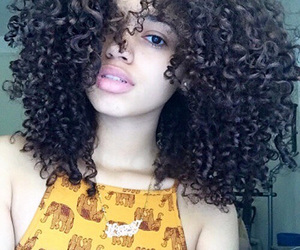 beautiful, curly, and curly hair image