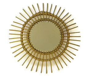 etsy, sunburst mirror, and bedroom mirror image