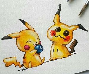 pikachu, cute, and art image