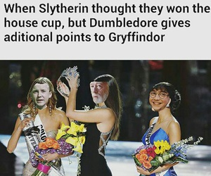 dumbledore, gryffindor, and harry potter image
