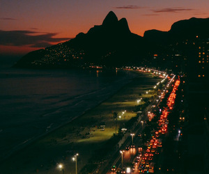 beach, brazil, and city lights image