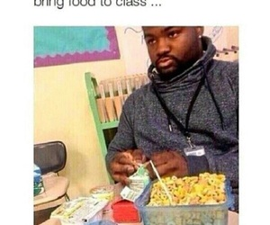 funny, school, and food image