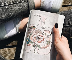 draw, grunge, and girl image