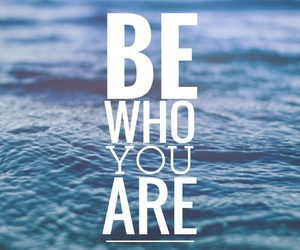 be who you are, blue, and oceans image