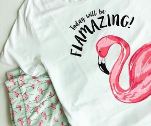 flamingo, pajamas, and mint image