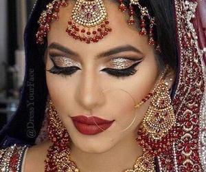 makeup, beautiful, and indian image
