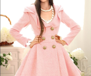pink, fashion, and coat image