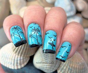 beauty, nail art, and manicure image