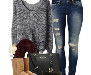 winter, fashion, and jeans image