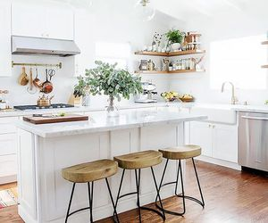 kitchen, chic, and decor image