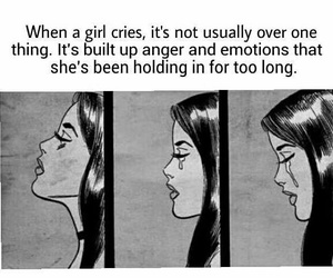 girl, cry, and quote image
