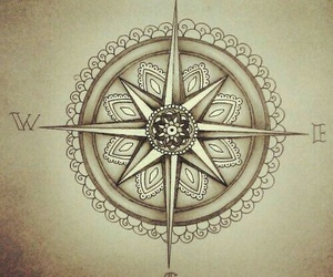 compass, drawing, and fine image