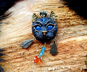 black cat, egyptian cat, and cat jewelry image