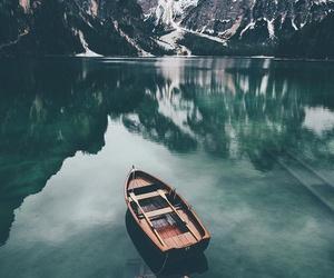 water, boat, and lake image