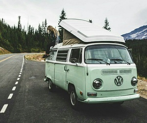 travel, car, and forest image