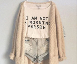 fashion, outfit, and morning person image