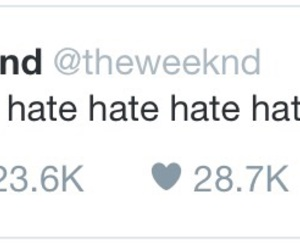 tweet and the weeknd image