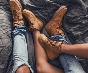 couple, nike, and shoes image