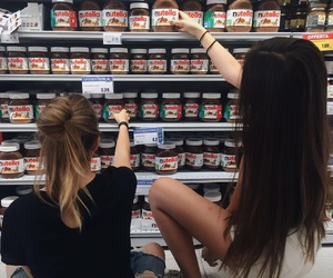 friends, nutella, and girls image