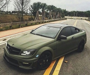 car, green, and mercedes image