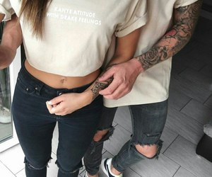couple, love, and fashion image