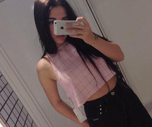 girl, pink, and grunge image