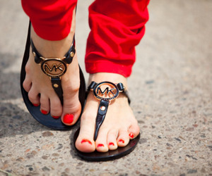 shoes, sandals, and red image