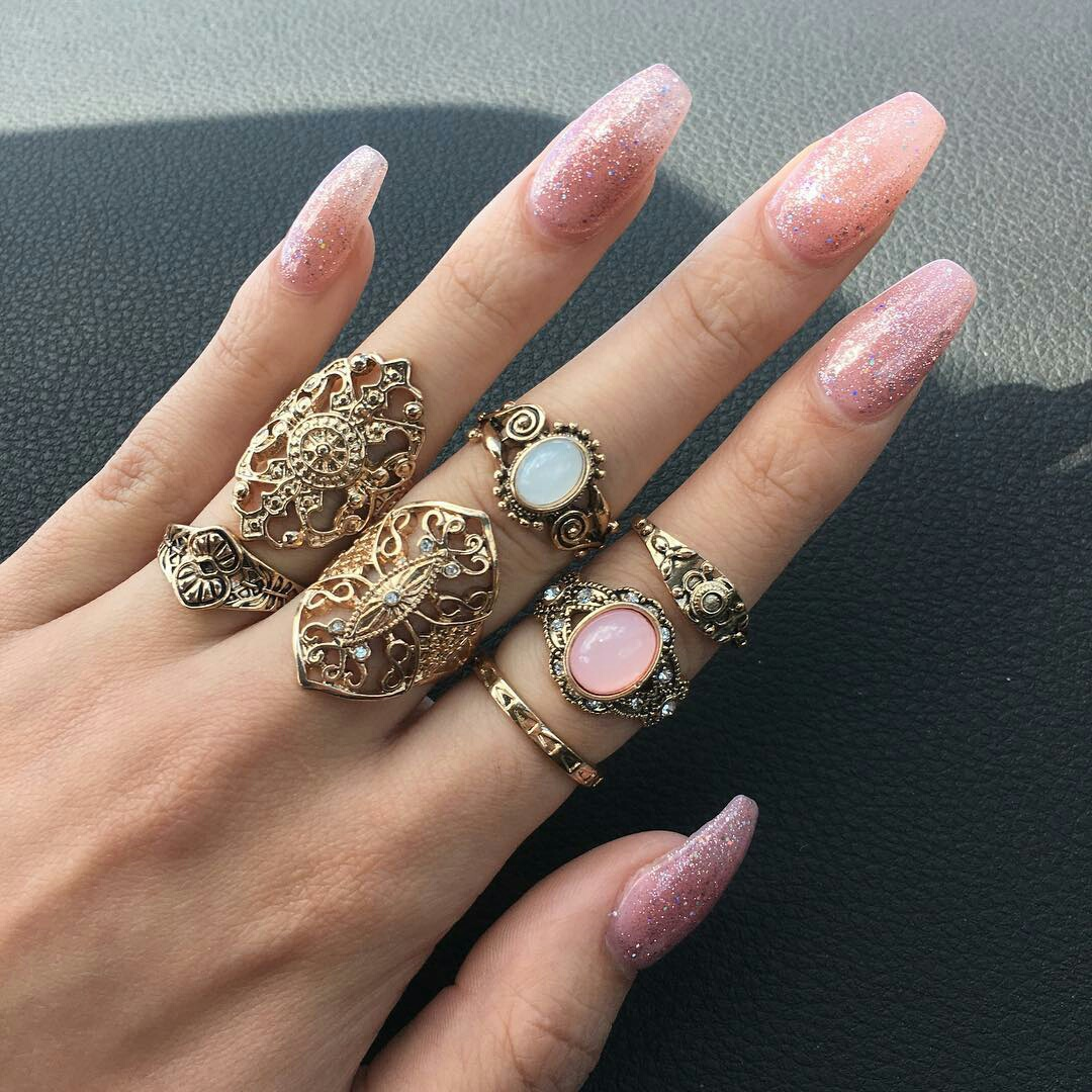 jewelry, pink, and nails image