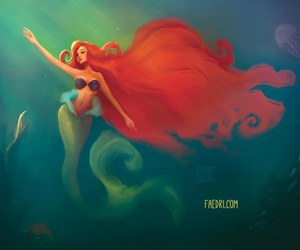 disney, nice.., and little mermaid image