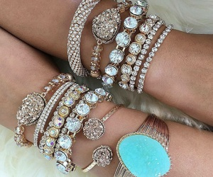 bracelet, rings, and watches image