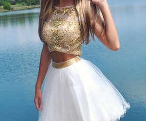 homecoming dresses, prom dress, and two pieces prom dress image