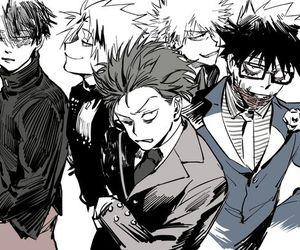 boku no hero academia, shinsou hitoshi, and kaminari denki image
