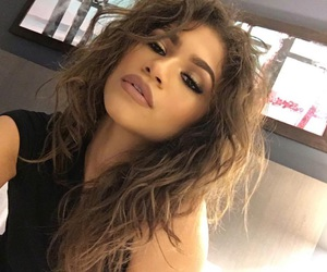 zendaya, hair, and makeup image