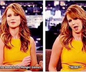 Jennifer Lawrence, funny, and hunger games image