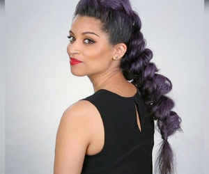 goals, hair, and purple image