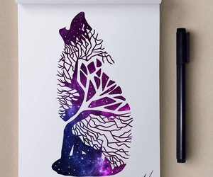 art, animal, and galaxy image