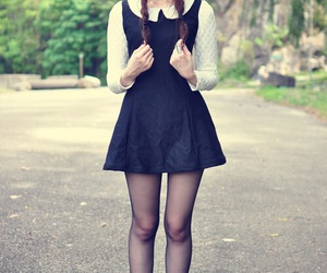 dress, grunge, and black image