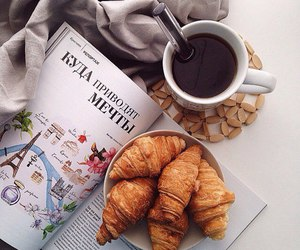 croissant, coffee, and breakfast image