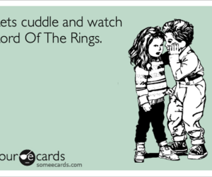 e card, cute, and lord of the rings image