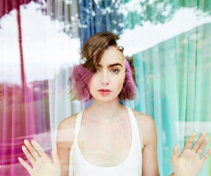 girl, photoshoot, and lily collins image