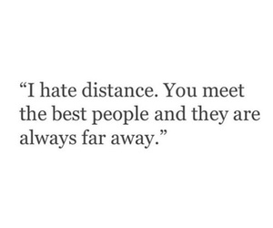 distance, people, and quotes image
