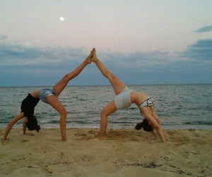 yoga, summervibes, and friendshipgoal image