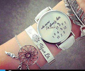 accessory, clock, and dream catcher image