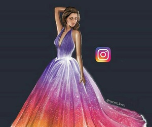 dress, instagram, and art image