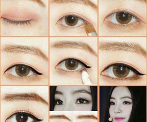 eye, girl, and idol image