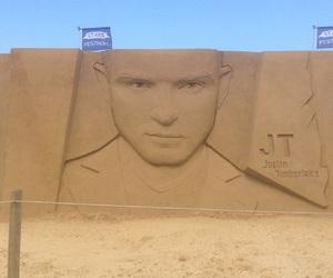 belgium, justin timberlake, and sand sculpture image
