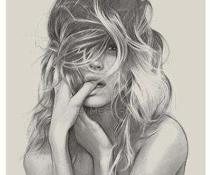 black and white, draw, and fashion image