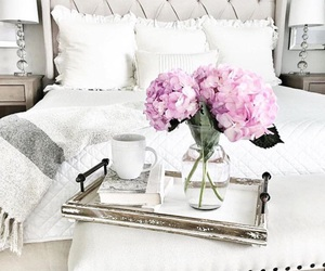 bedroom, home, and flower image