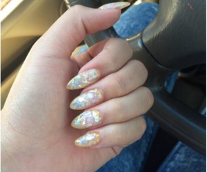 nails, opal, and cute image