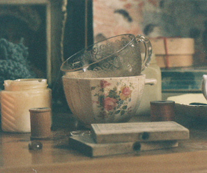 teacups, muted, and bric-a-brac image